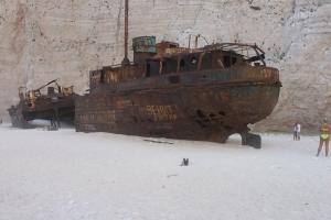 Skipsvraket på stranden