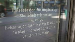åpningstidene til Helsestasjonen  for ungdom i Drammen